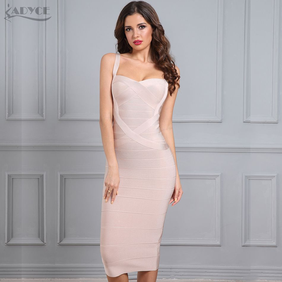 Adyce 2018 New Woman Bandage Dress Red Black Blue White Pink Yellow Backless Dress Sexy Celebrity Bodycon Party Dresses Vestidos
