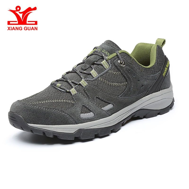Xiang Guan Man's Breathable Light Hiking Shoes Blue Outdoor Walking Jogging Sneakers protection Feature Hot Style