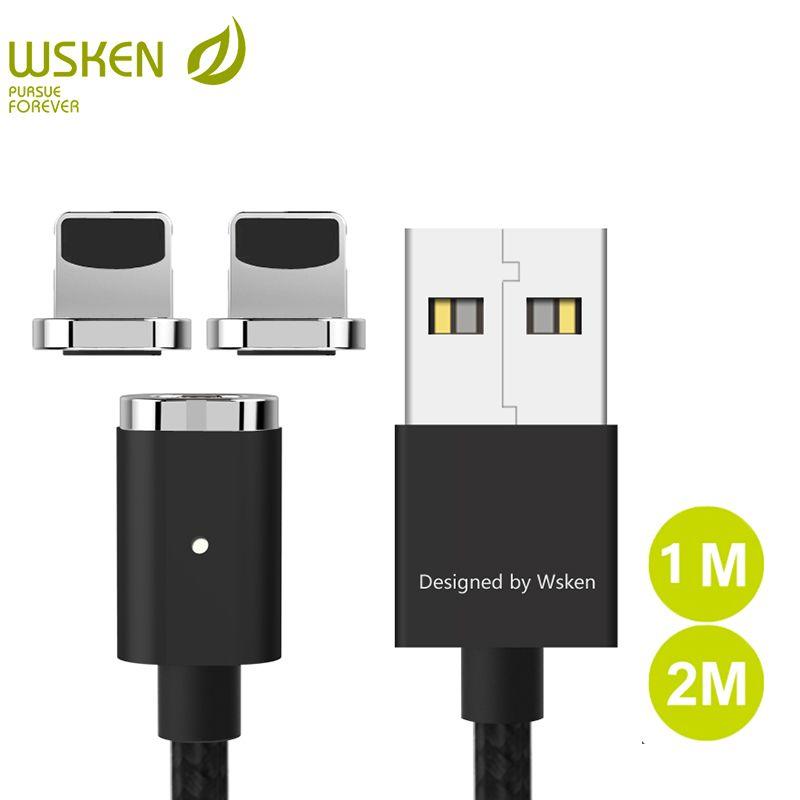 WSKEN für iPhone Mini 2 USB Magnetic Ladegerät Handy kabel für iPhone X 8 7 6 5 für iPad Mit LED licht