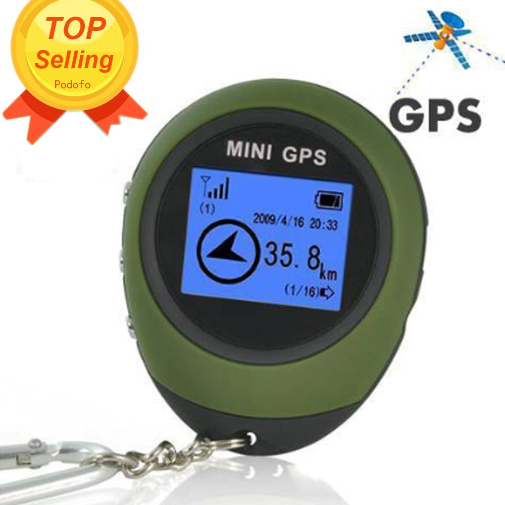 Podofo Mini GPS Tracker Tracking Device Travel Portable Keychain Locator Pathfinding Motorcycle Vehicle Sport Handheld Keychain