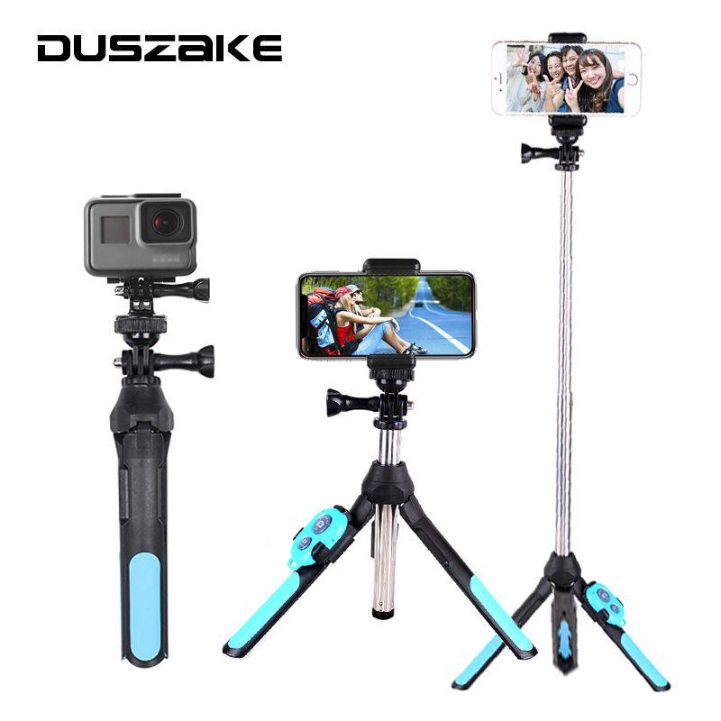 DUSZAKE Selfie Stick Bluetooth Tripod For Xiaomi Wireless Monopod For Phone Mini Selfie Stick Bluetooth Tripod For iPhone Xiaomi