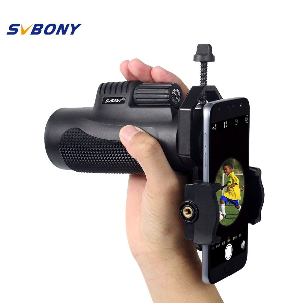SVBONY 10x42 Monocular Telescope +Phone Adapter Waterproof Hunting Nitrogen Travel Camping Hiking Telescope F9116AD