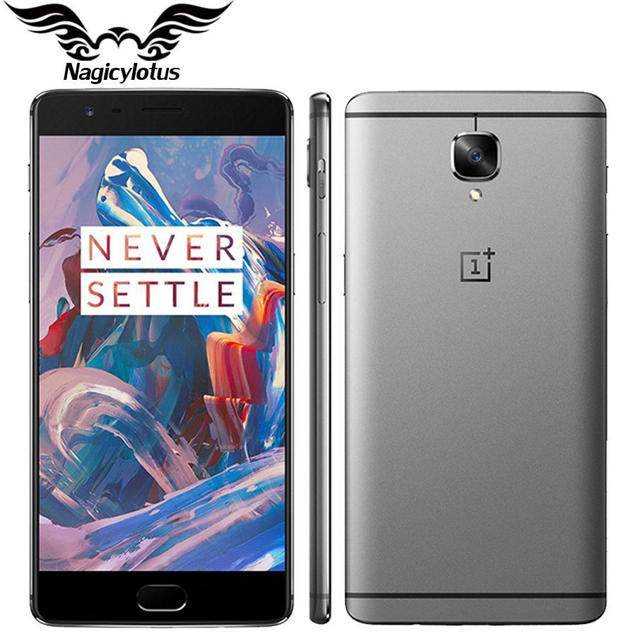 Oneplus 3 A3000 6 GB RAM 64 GB ROM D'origine Brand New Mobile Téléphone Snapdragon 820 Quad Core 5.5 D'empreintes Digitales smartphone