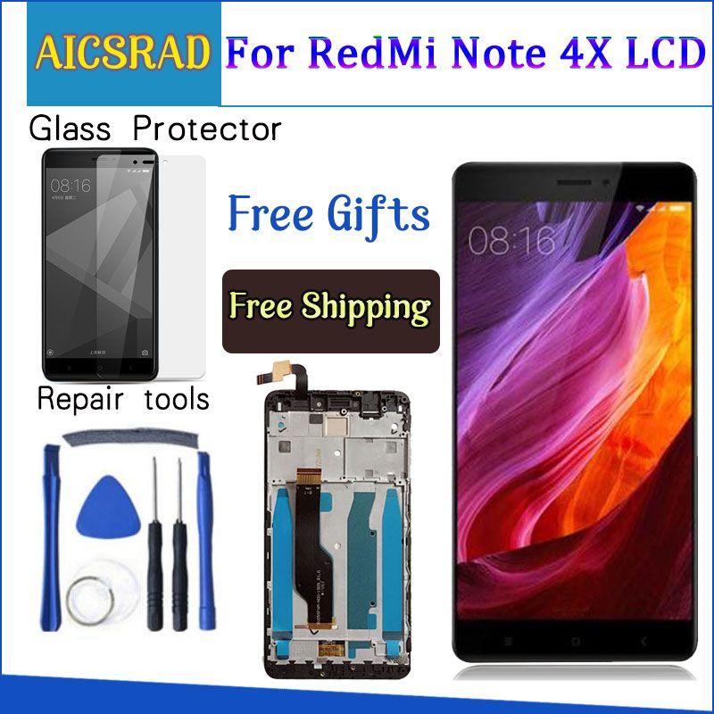 AICSRAD Pour Xiaomi redmi note 4X note4X note 4 Mondial Version Snapdragon 625 Écran LCD + Écran Tactile Digitizer Avec Cadre
