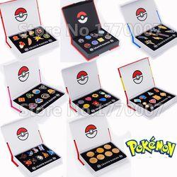 Pokemon Gym Badges Kanto Johto Hoenn Sinnoh Unova Kalos League Region Orange Islands Pins Brooches New in Box Set Gift