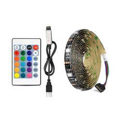 5V USB Port Power RGB LED Strip light 5050 Waterproof Flexible LED String Tape for TV Desktop Background Decor 1M 2M 3M 4M 5M