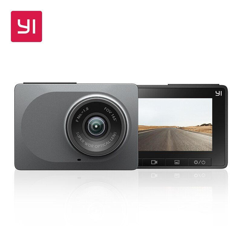 YI Dash Camera 2.7 Screen Full HD 1080P 60fps 165 degree <font><b>Wide</b></font>-Angle Car DVR Vehicle Dash Cam with G-Sensor Night Vision ADAS