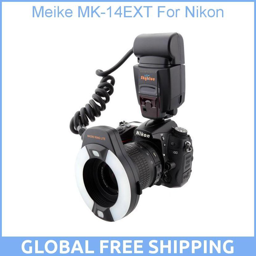Meike MK-14EXT MK-14-EXT ITTL Macro TTL ring flash AF assist lamp For Nikon
