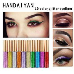 Glitter Eyeliner Maquillage Waterproof Eye-Liner Crayons Longue Durée Miroitement Liquide Eyeliner Fard À Paupières Cosmétiques Glitter Eyeliner