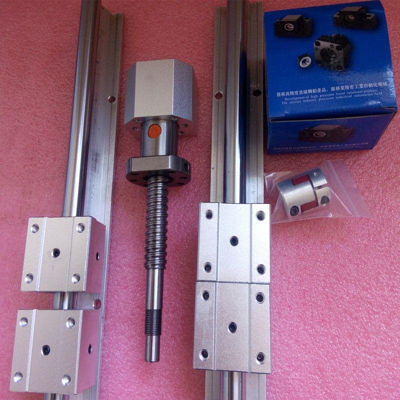 Линейную рельсы sbr20-1500/1100/300 + ШВП SFU1605-1550/1150/350 мм + 3bkbf12 + 3 ballnut корпус + 3 муфта 8-10