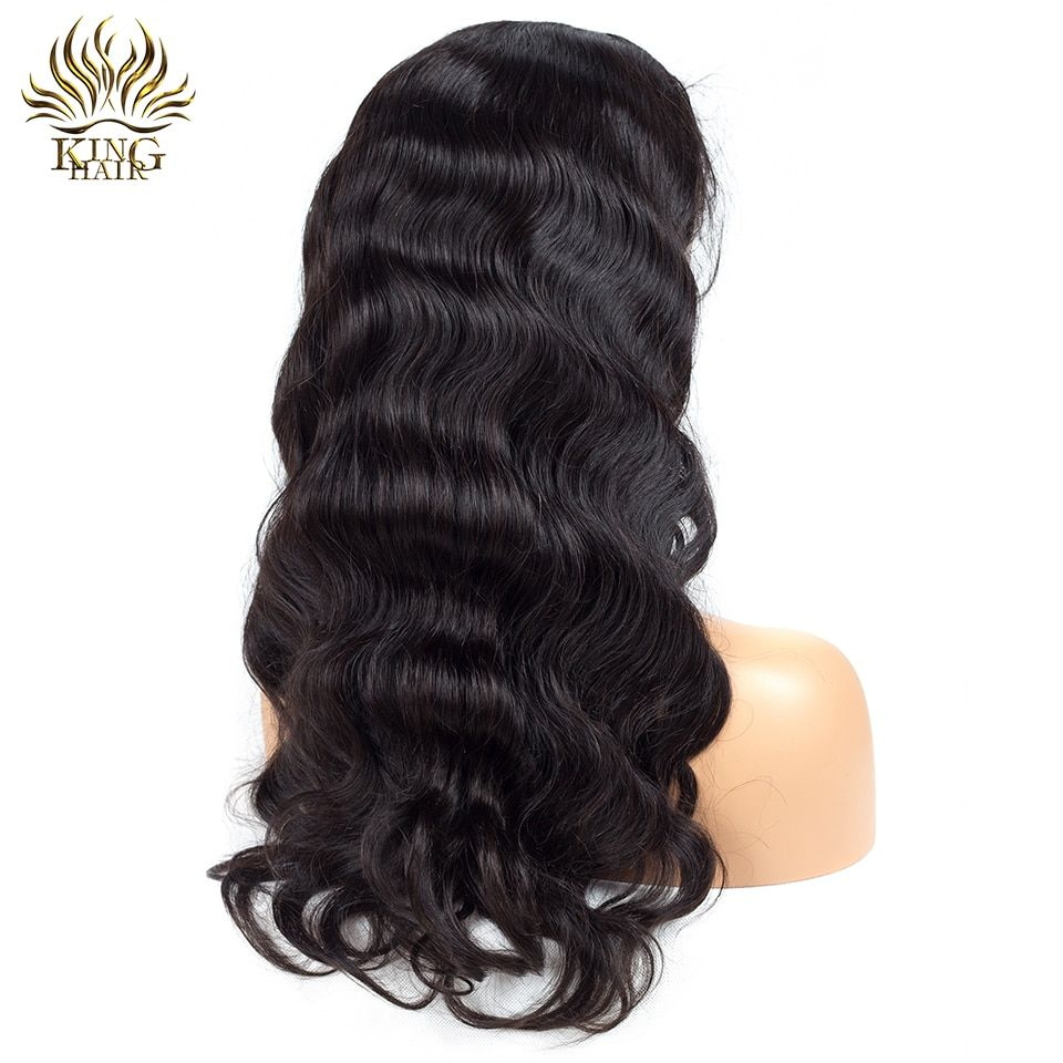 King Hair Peruvian Body Wave Full Lace Human Hair Wigs With Baby Hair Pre Pluck Natural Hairline 12-24inch Remy Hair wigs