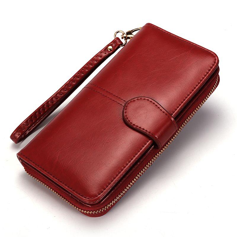 Для женщин кожаный бумажник карты монета держатель зажим для денег длинный клатч телефона браслет Trifold молния наличные фото известная марк...