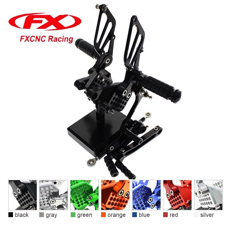FX CNC Aluminum Adjustable Motorcycle Rearsets Rear Set Foot Pegs Pedal Footrest For DUCATI 749 999 Motorcycle Foot Rests