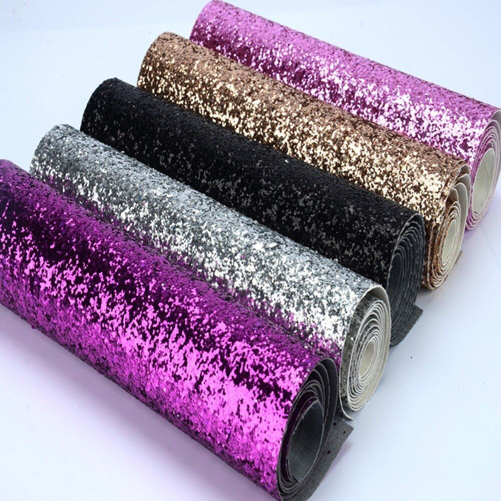 25*138cm eco-friendly chunky glitter fabric colorful glitter border use for cushions,pelmets,pillow decoration,glitter wallpaper
