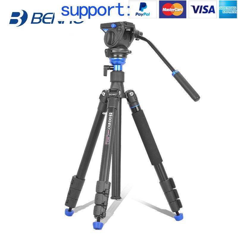 Benro AERO 4 A2883FS4 tripod Video Tripod Kit Professional Aluminum For Video Camera Videotape Dual-use