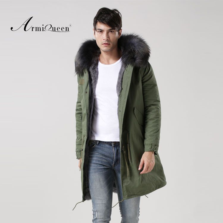 man jacket professional factory supplier price Army green fabric with grey lining man jacket