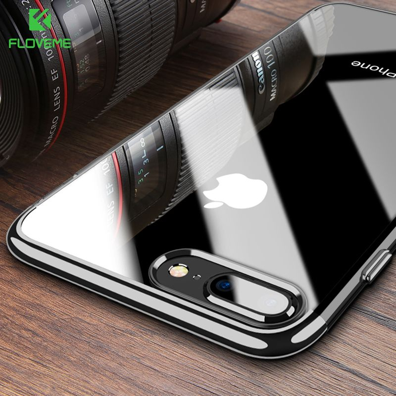 FLOVEME Phone Case For iPhone 7 6 6S 8 Plus 3D Transparent Cover For iPhone 7 8 iPhone 6 6S Case Soft TPU Silicon Shell Capa