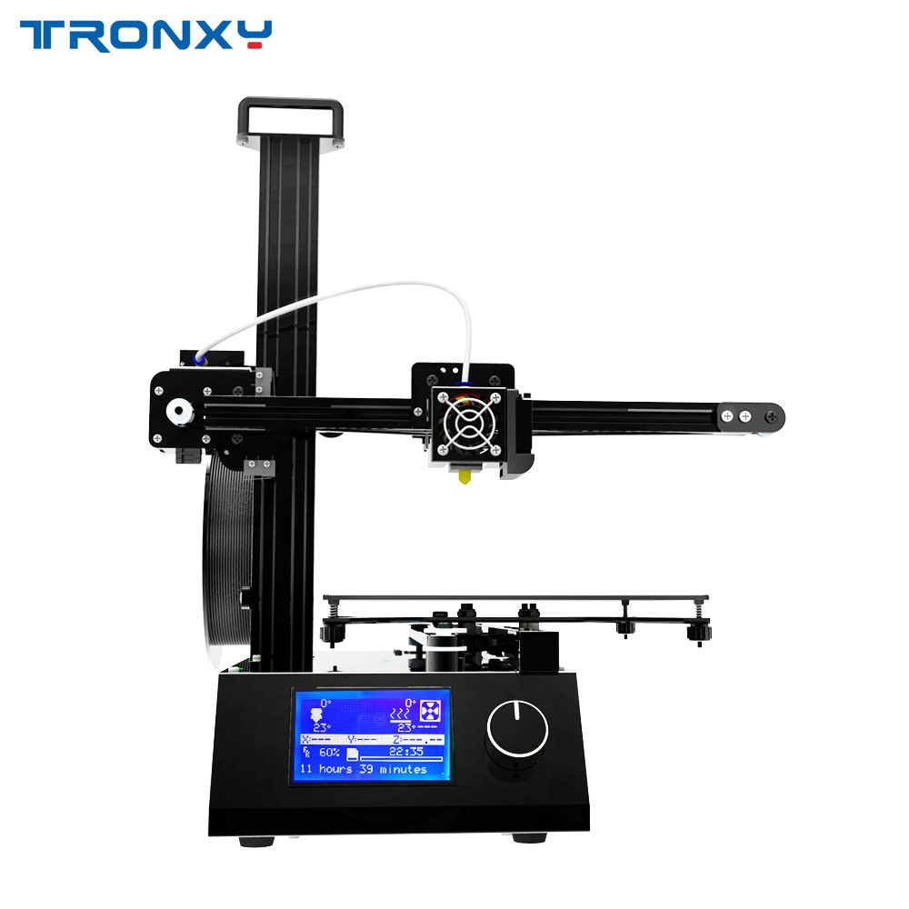 2018 Upgraded version Tronxy X2 3D Printer Whole Aluminium and matel with Heat bed print ABS PLA Filament