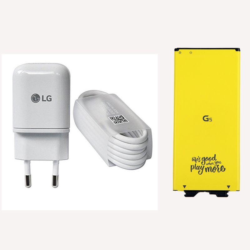 Original LG G5 BL-42D1F akku mit ladegerät für LG G5 H820 H850 H868 H860 VS987 US992 2800 mAh