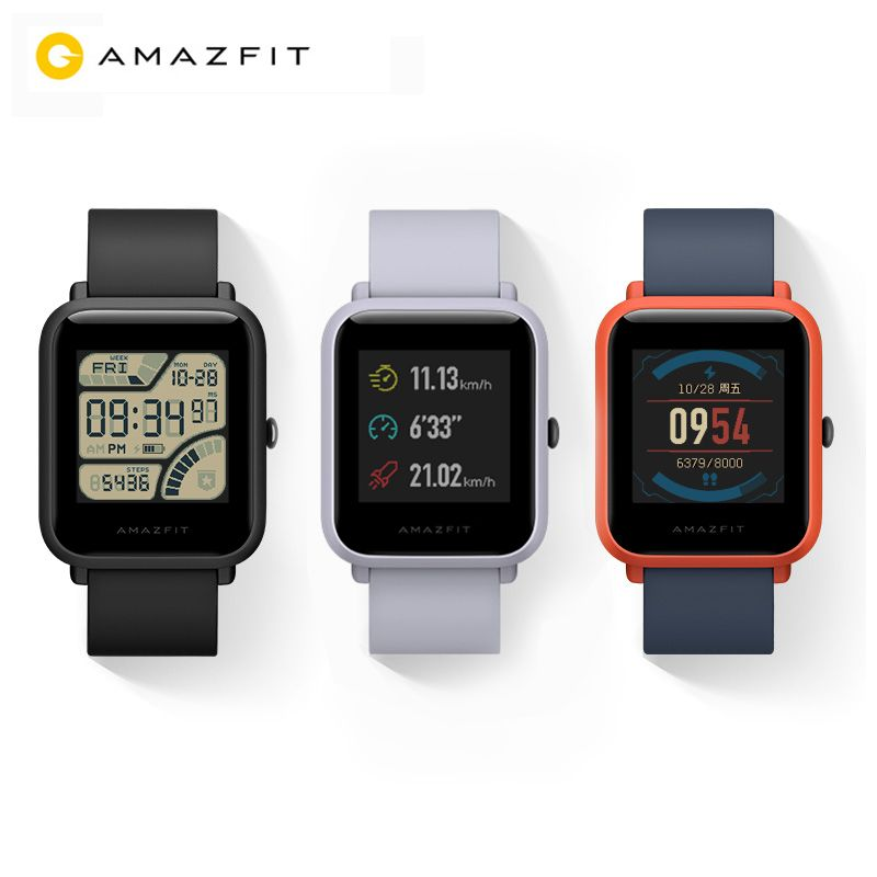 2018 New Arrival Xiaomi Huami Amazfit Bip Youth Smart Watch GPS 45 days battery Android activity Bluetooth 4.0 Heart Rate IP68