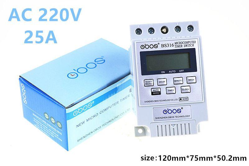 BS316 version anglaise commutateur de commande de micro-ordinateur KG316T commutateur de temps de commutateur de réverbère minuterie électronique 220 v commutateur