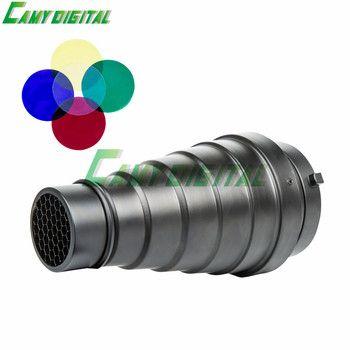 Godox sn-01 avec couleur filtre snoot conique studio flash accessoires nid d'abeille grille lumière pour bowens mont studio flash stroboscopique