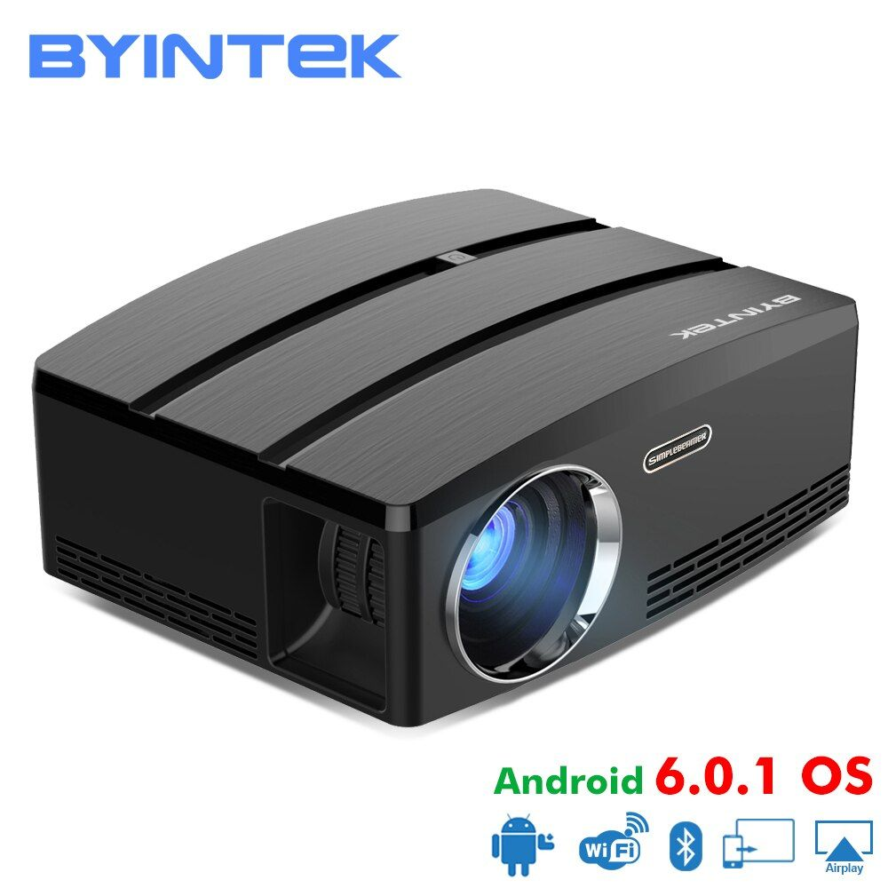 BYINTEK SKY GP80/GP80UP HD LED Mini USB HDMI Portable Projector for Home Theater 1080P Cinema (Optional Android 6.0 Version)