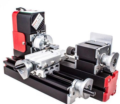 DIY Werkzeug Big Power Mini Metall Rotierenden Drehmaschine, 20 Watt 20000rev/min Motor, Ein Satz Miniatur Metall Multifunktionsgerät