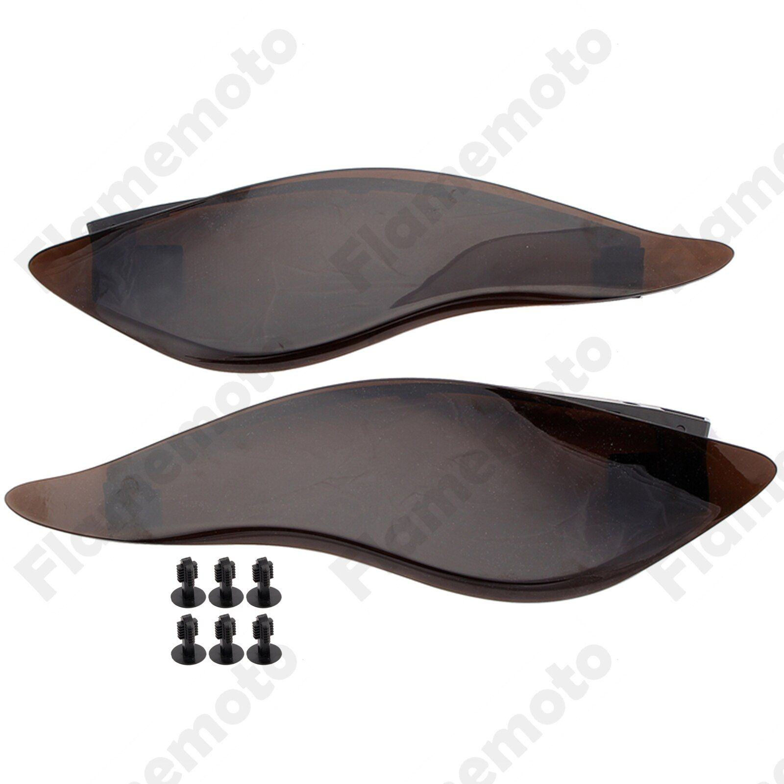 Motorcycle Parts Light Smoke ABS Fairing Side Wings Air Deflectors For Harley Touring Street Glide 2014 2015 2016 2017 UNDEFINED