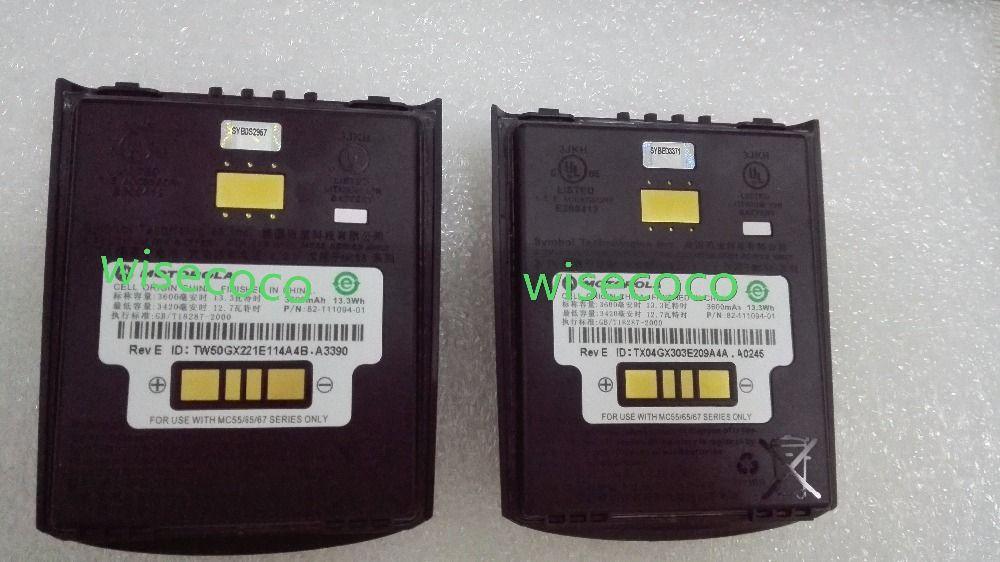 Pour le Symbole MC55 MC65 MC659B MC5590 MC55A0 Haute Capacité Étendue Batterie (82-111094-01, 3.7 V, 3600 mAh)