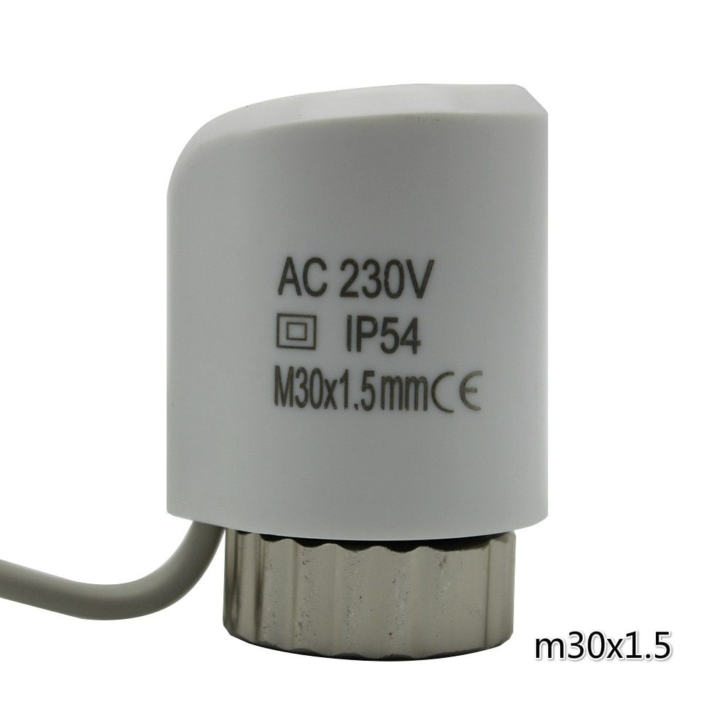 white normally open normally close thermal actuator electric thermal actuator valve for underfloor heating radiator 230 24v