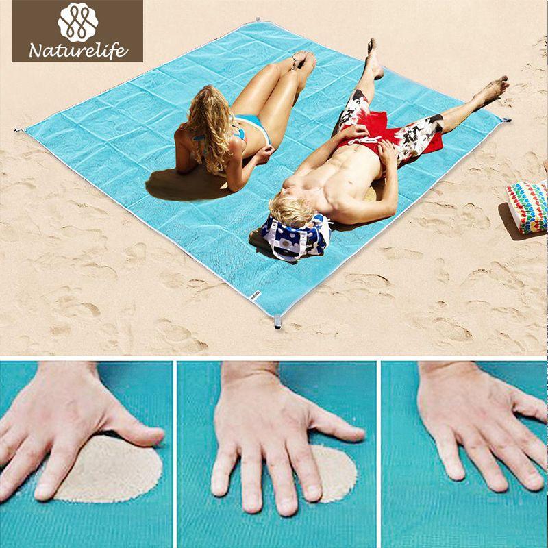 Naturelife Sans Sable Tapis De Plage Portable Bleu tapis de plage Sable antidérapante de Tapis Tapis tapis Extérieur pour La Plage de soutien expédition de baisse