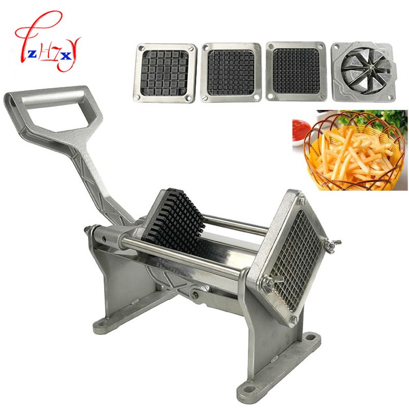 Commercial Potato Slicer Fruit Vegetable cutter slicer Fry Chopper Tool Potato Cutting Machine With 4 Blades 1pc