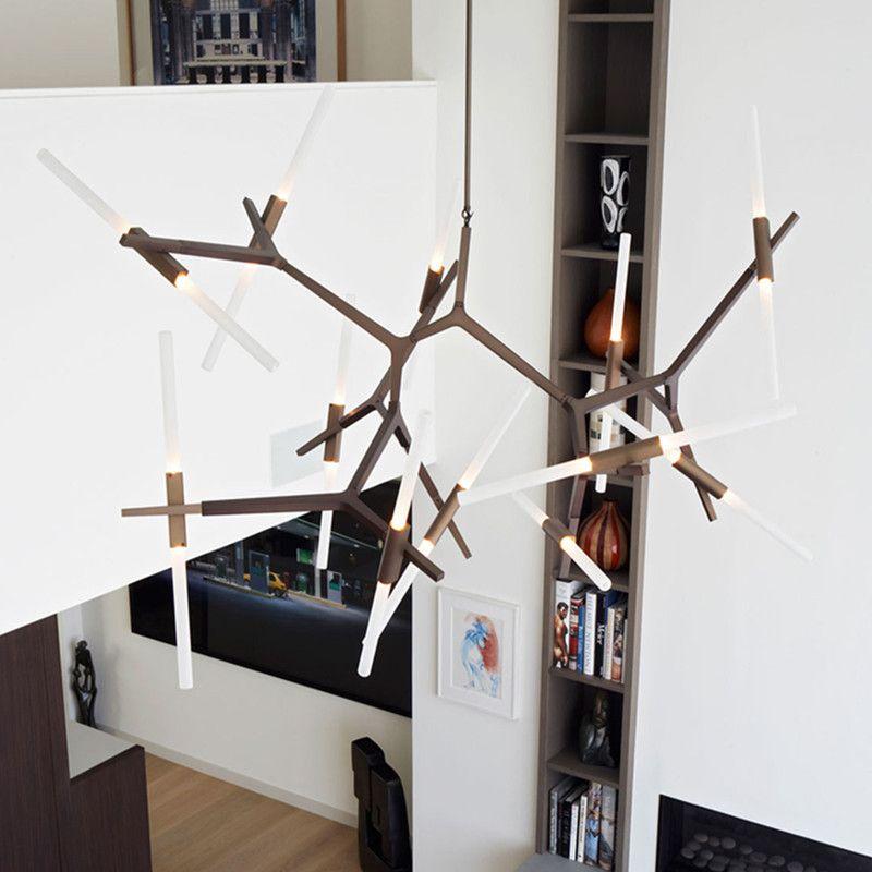 6/10/14 Kopf Moderne LED Schwarz/Gold Hügel Agnes Esszimmer Pendelleuchte Minimalistischen Zweig Nordic Lindsey Lichter Bar Cafe Licht