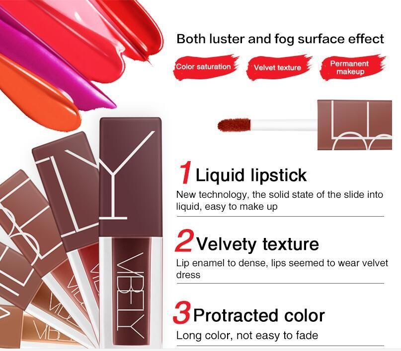 Matte Nude Lip Gloss Long Lasting Lip Stick Waterproof Lipgloss