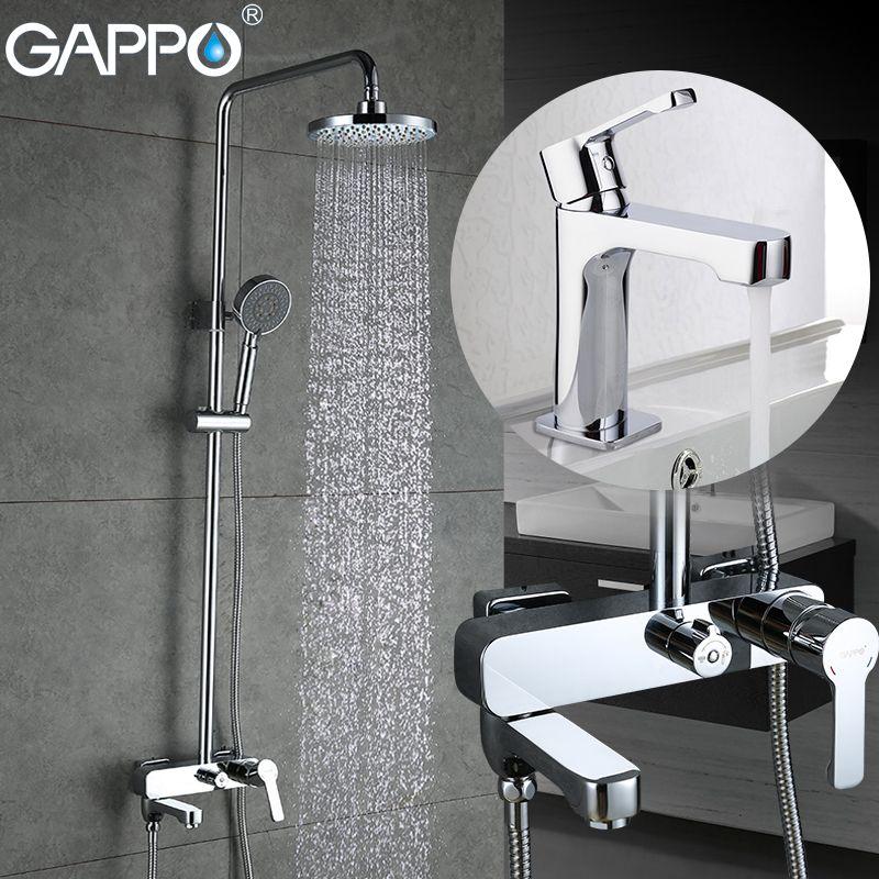 GAPPO shower faucet brass basin faucet waterfall bath shower tap mixer basin sink faucet Water mixer wall mount shower set