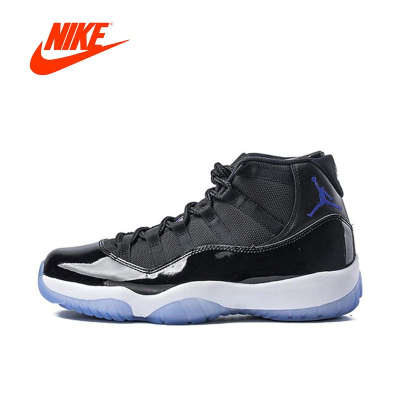 Original New Arrival Authentic Nike Air Jordan 11 Space Jam Breathable Men's Basketball Shoes Sports Sneakers