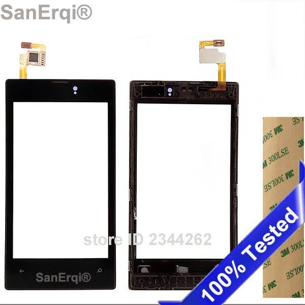 SanErqi Tested for Nokia lumia 520 N520 525 N525  touch screen digitizer touch panel touchscreen Black