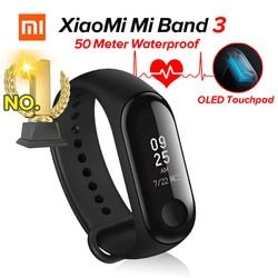 En Stock Xiaomi Mi Bande 3 Miband 3 Fitness Tracker Coeur taux Moniteur 0.78 ''OLED Affichage Touchpad Bluetooth 4.2 Pour Android IOS