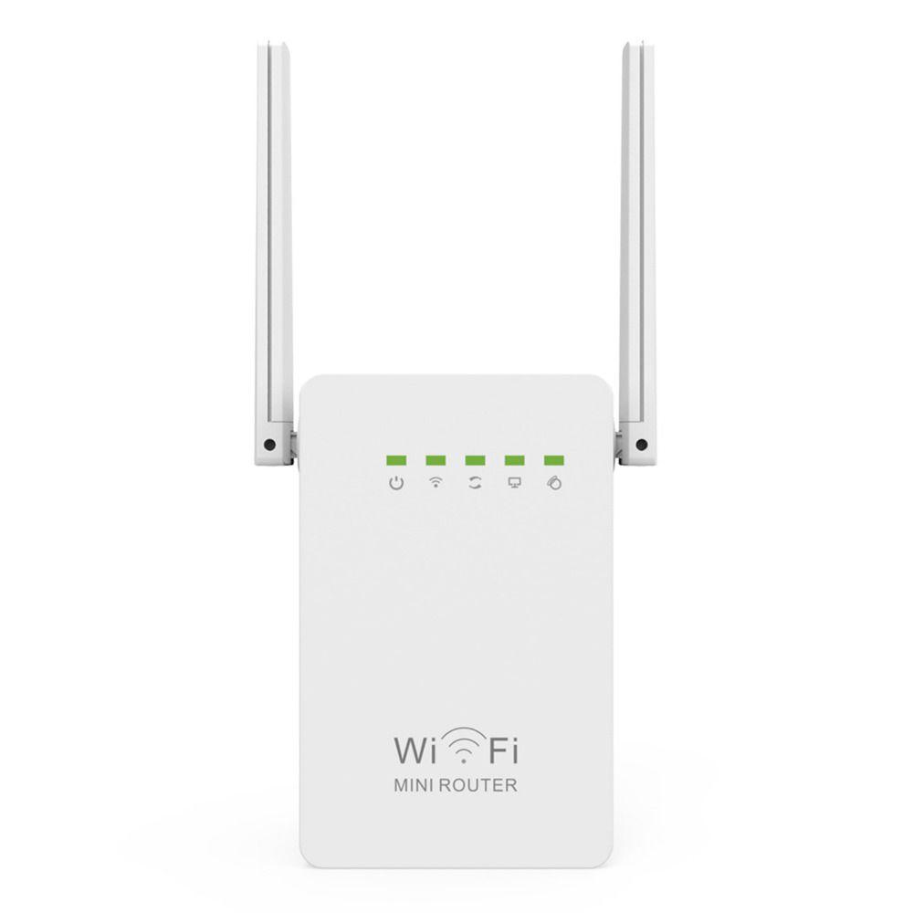 300 Mbps Mini routeur WiFi répéteur réseau gamme Extender Booster N300 Wi-Fi simple augmentation double antennes externes prise EU/US/UK