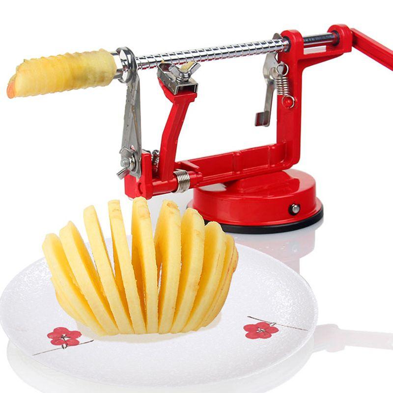 2018 Marque Nouveau 1 pcs 3in1 Fruits Outils Apple Slinky Machine Peeler Coupeur de Fruit de trancheuse de Cuisine D'apple peeling machine (0153-6.8)