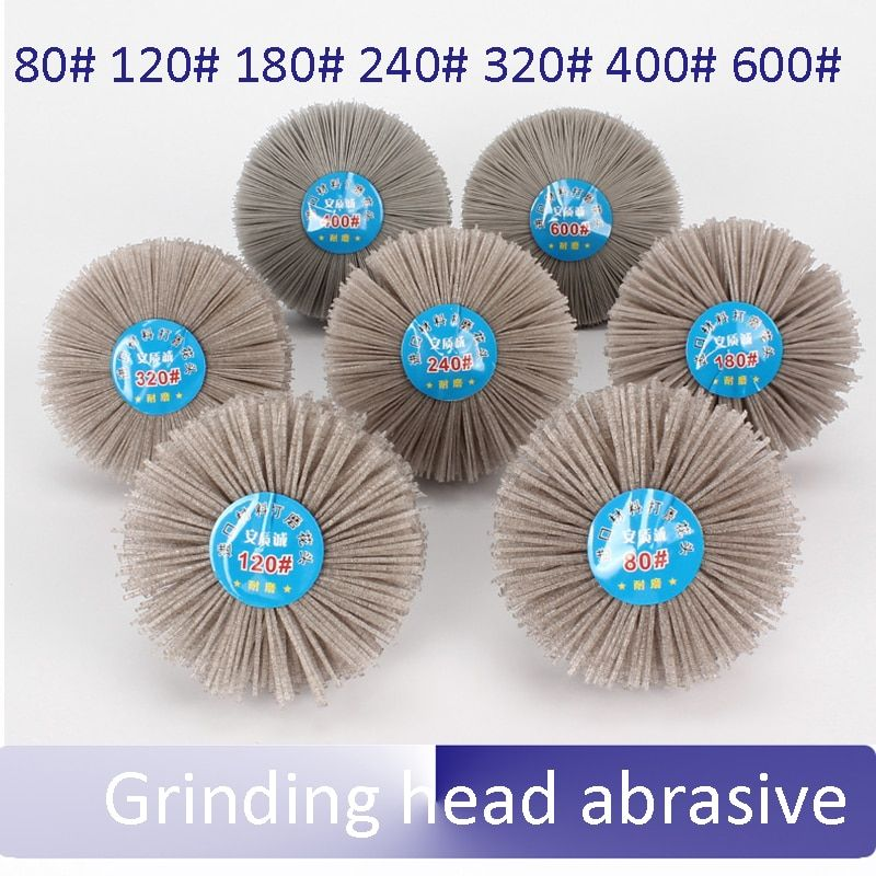 Grinding head abrasive DuPont nylon material wood Thuja Redwood root Relief polishing Wheel grinding head Wear-resistant brush