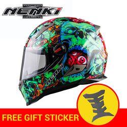 NENKI motocicleta casco Motocross Racing casco Moto casco Capacete De Moto para hombres y mujeres regalo etiqueta
