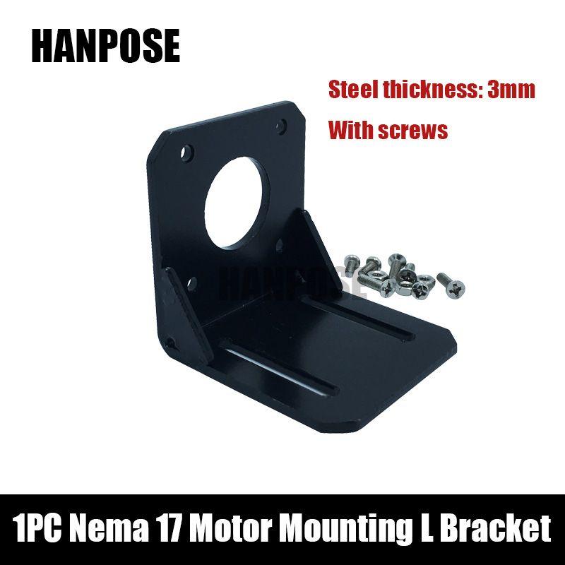 Livraison gratuite 1 pièces Nema 17 moteur pas à pas montage L support de montage pas à pas pour moteur Nema17