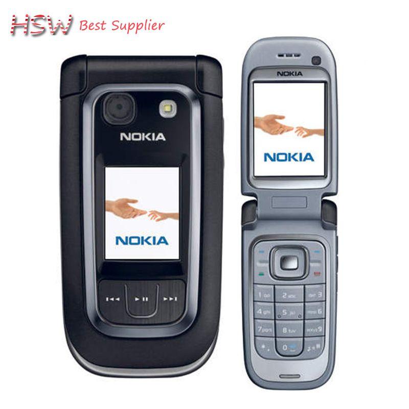 Refurbished Original Nokia 6267 Filp Unlocked Mobile Phone Quad-Band Phone Russian Keyboard Free Shipping