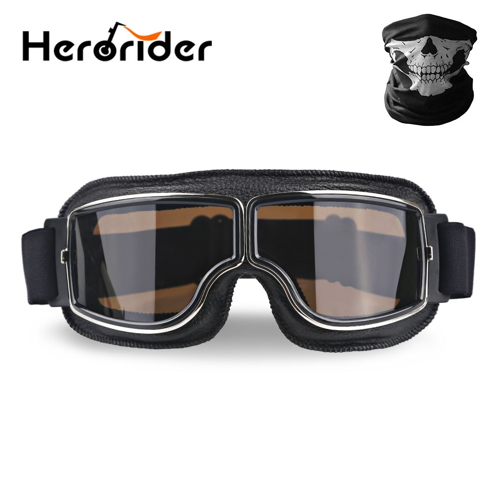 Universal UV Protection Retro Vintage Motorcycle Goggles Motorbike Scooter Glasses For Bike Motor Sunglasses