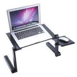 Portátil ajustable escritorio del ordenador portátil Lap PC escritorio mesa plegable ventilación soporte bandeja de la cama