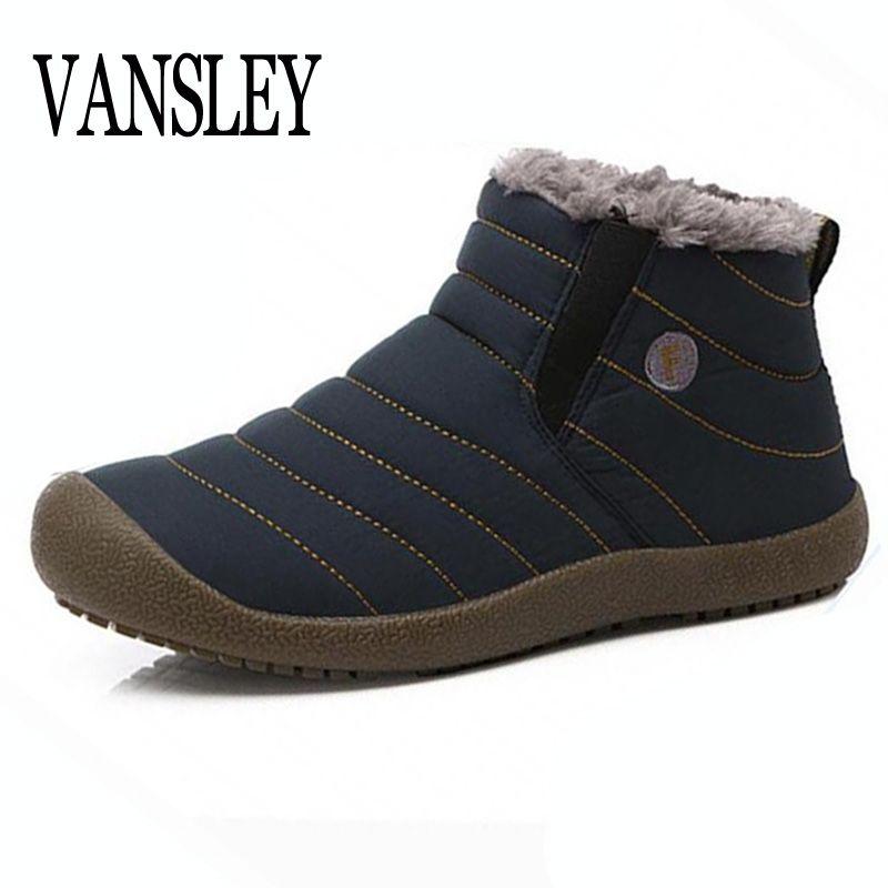 2017 Nuevo Hombre Botas de Piel Caliente de Los Hombres Botas de Nieve Zapato Plano tacones Botines Felpa Otoño Invierno Pareja Unisex Zapatos de Plataforma de Arranque
