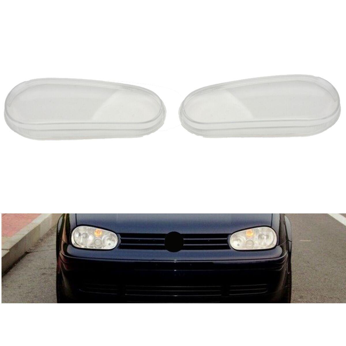 Left/Right Driver Side Car Glass Lens Headlight Lamp Housing Cover For VW MK4 Golf GTI R32 1999 2000 2001 2002 2003 2004 2005