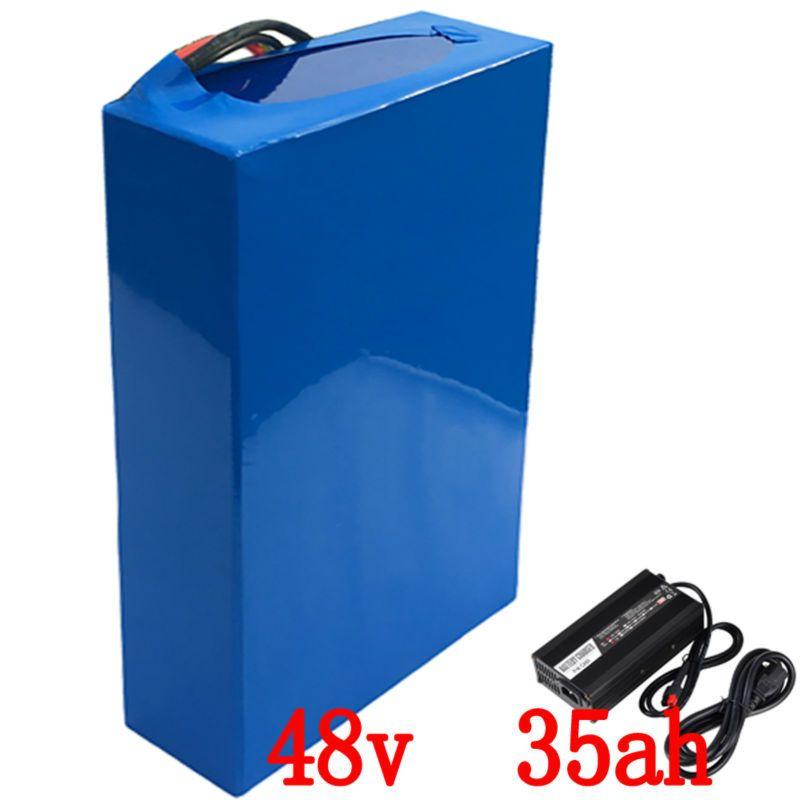 48 V 35Ah 2000 Watt e-bike Batterie Lithium-akku Für 48 V Elektrische Bike Antriebsmotor Mit 54,6 V 5A Ladegerät und 50A BMS Batterie